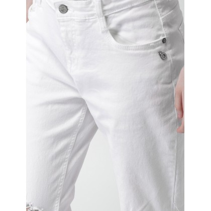 Pearl Stretchable Jeans In White