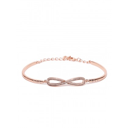 Infinith Handcrafted Bracelet In Rose Gold