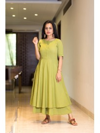Premium Sweet Pea Green Kurta Set