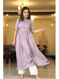 Premium Purple Lilac Kurta Set