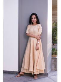 Premium Powell Buff Beige Kurta Set