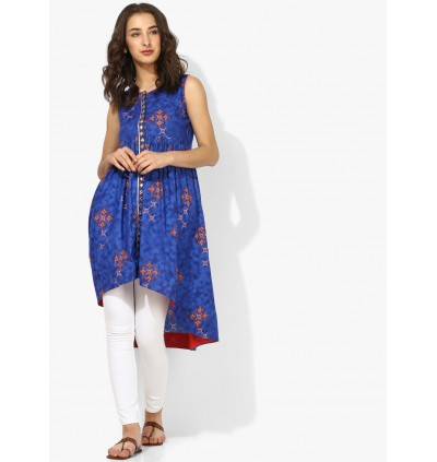 Tunic With High Low Hem And Embroidery